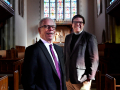 Cliff Stewart (left), the pastor at First Central Presbyterian Church and the Rev. David Romanik, rector at Episcopal Church of the Heavenly Rest, inside Romanik's sanctuary Tuesday Jan. 14, 2020. The two men will swap pulpit duties Sunday, delivering their sermons to each others congregations.