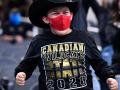 Kreed Gray, 11, cheers for Canadian during Thursday's Class 3A Division II state title game against Franklin at AT&T Stadium Dec. 17, 2020. Final score was 35-34, Canadian.