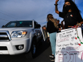 Demonstrators slow traffic on E. Highway 80 during Thursday's protest against racism and national acts of police brutality June 4, 2020.