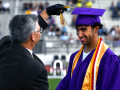 Wylie Independent School District Superintendent Joey Light ceremoniously moves graduating senior Payton Brooks' tassel over the left during Saturday's commencement June 20, 2020.