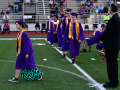 Students advance to receive their diplomas during the Wylie High School Commencement Saturday June 20, 2020.