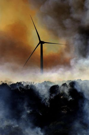 Wind Turbine Wild Fire